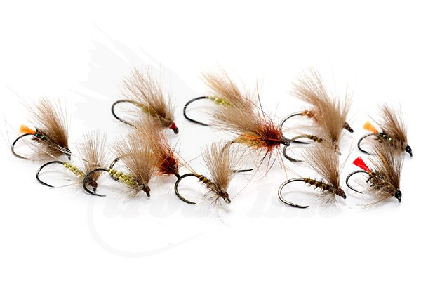 Fly Fishing Size 12 Mixed CDCs Set of 6 Flies