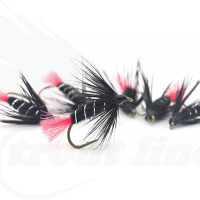 Black Zulu Classic Traditional Fly Fishing River Wet Trout Flies Nymphs