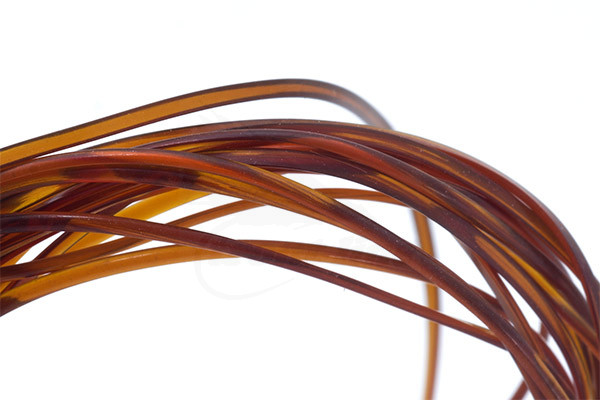 Hends Half Round Body Glass Red Quality FlyTying Material BWCflies